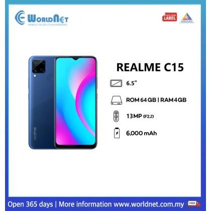 "Realme C15 6.5"" 4GB RAM + 64GB ROM 6000mAh"
