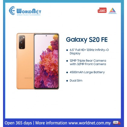 "Samsung Galaxy S20 FE G781 6.5"" 8GB RAM + 256GB ROM 4500 mAh"
