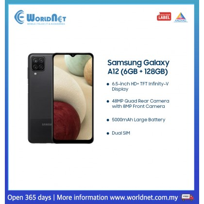 "Samsung Galaxy A12 A125 6.5"" 6GB RAM + 128GB ROM 5000mAh"