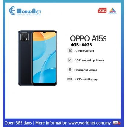 "Oppo A15s 6.52"" 4GB RAM + 64GB ROM 4230mAh"