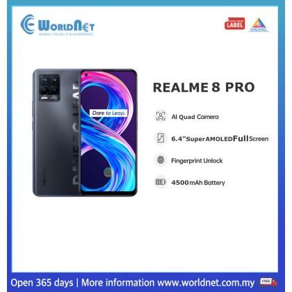 "Realme 8 Pro 6.4"" 8GB RAM + 128GB ROM 4500mAh"