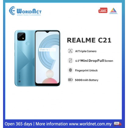 "Realme C21 6.5"" 3GB RAM + 32GB ROM 5000mAh"